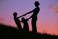 Mother and children royalty free stock photo
