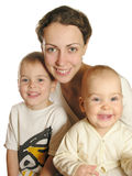 Mother with children royalty free stock photo