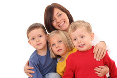 Mother with children Stock Image