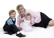 Mother and Children. A happy family bonding together. Mother and her two children Stock Images
