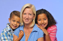 Mother and children Stock Photos