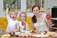 Mother with children Royalty Free Stock Image