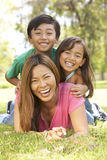 Mother And Children Enjoying Day In Park Royalty Free Stock Photos