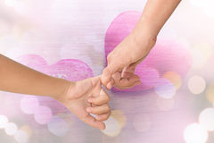 Mother and children hands. Stock Image