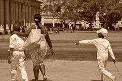 Mother and children havana cuba Stock Images