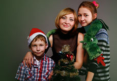 Mother with children on a holiday Royalty Free Stock Images