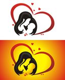 Mother and children. Love of mother to her child Stock Photo