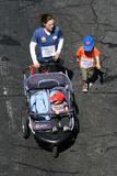 Mother and Children in Marathon Stock Images