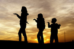 Mother and children playing. Stock Photography