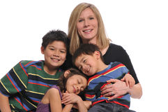 Mother and children portrait Stock Photo