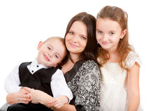Mother with children portrait Royalty Free Stock Images