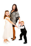 Mother with children portrait Stock Images