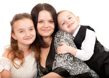 Mother with children portrait Stock Photos