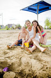 Mother and children smiling Royalty Free Stock Photos