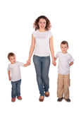 Mother with children stands Royalty Free Stock Photography