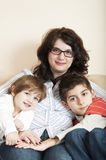 Mother and children together Royalty Free Stock Photos