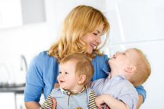 Mother And Children Together At Home Royalty Free Stock Image