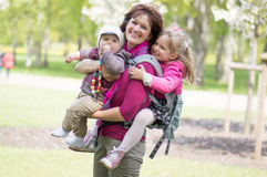 Mother with children Stock Images