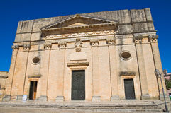 Mother church. Alessano. Puglia. Italy. Stock Photos