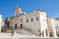 Mother Church. Cisternino. Puglia. Italy. Perspective of the Mother Church of Cisternino. Puglia. Italy stock photos