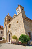 Mother Church of Rocca Imperiale. Calabria. Italy. Royalty Free Stock Image