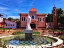 Mother Church of a small town in the interior of Brazil. stock image