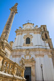 Mother Church of St. Andrea. Presicce. Puglia. Italy. Royalty Free Stock Image