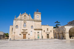Mother Church of St. Giorgio. Melpignano. Puglia. Perspective of the Mother Church of St. Giorgio. Melpignano. Puglia. Italy Stock Images