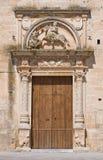 Mother Church of St. Giorgio. Melpignano. Puglia. Royalty Free Stock Photo
