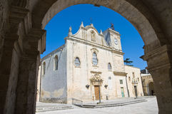 Mother Church of St. Giorgio. Melpignano. Puglia. Italy. Perspective of the Mother Church of St. Giorgio. Melpignano. Puglia. Italy Stock Images