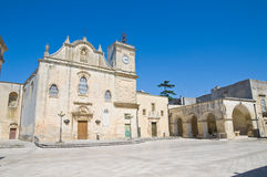 Mother Church of St. Giorgio. Melpignano. Puglia. Italy. Perspective of the Mother Church of St. Giorgio. Melpignano. Puglia. Italy Royalty Free Stock Photo