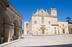 Mother Church of St. Giorgio. Melpignano. Puglia. Italy. Perspective of the Mother Church of St. Giorgio. Melpignano. Puglia. Italy Stock Images
