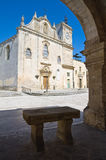 Mother Church of St. Giorgio. Melpignano. Puglia. Italy. Perspective of the Mother Church of St. Giorgio. Melpignano. Puglia. Italy Royalty Free Stock Image