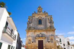 Mother Church of St. Luca. Palmariggi. Puglia. Italy. Royalty Free Stock Photos