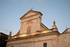 Mother church toast cisternino. Itria valley Puglia Royalty Free Stock Images