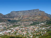 The mother city. Landscape photo of Cape Town's city bowl district royalty free stock photos
