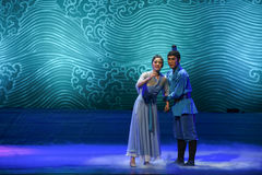 """Mother  comforted considerably-Dance drama """"The Dream of Maritime Silk Road"""". Dance drama """"The Dream of Maritime Silk Road"""" centers on the plot stock photos"""