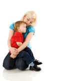 Mother comforting son Royalty Free Stock Photography