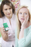 Mother Confronting Daughter Over Dangers Of Smoking Royalty Free Stock Image