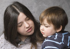 Mother consoling her child Royalty Free Stock Images
