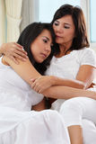 Mother consoling her daughter Royalty Free Stock Image