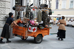 Mother Courage and her wagon Stock Images