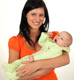 Mother with cute child, two months old baby boy Royalty Free Stock Image
