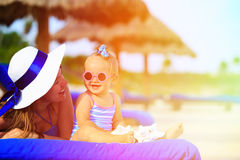 Mother and cute little daughter having fun on Royalty Free Stock Photo