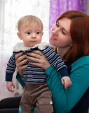 Mother with cute little son Stock Photography