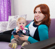 Mother with cute little son Stock Photos