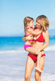 Mother and Daugher on the Beach Royalty Free Stock Image