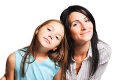 Mother with daughter. On white background Stock Image