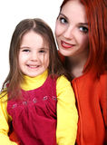 Mother and daughter. Smiling together Royalty Free Stock Image