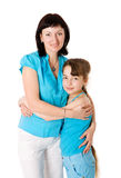 Mother and daughter. Holding isolated Stock Photography